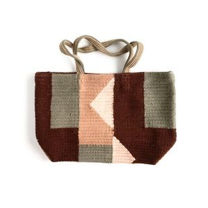 BDG | woolen woven forest sweater patchwork tote